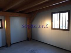 tamponatura di tettoia in legno