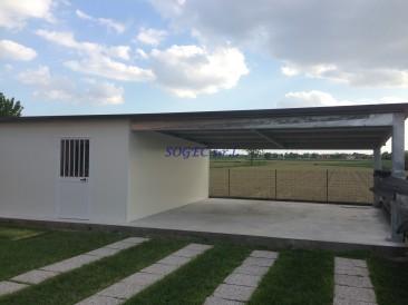 tettoia con vano chiuso SOGEC SRL